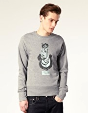 Paul Smith Jeans Zebra Head Sweat Shirt