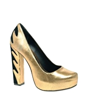 River Island Block Flame Court Shoe