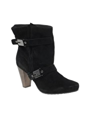 Scholl Tene Suede Heeled Ankle Boot