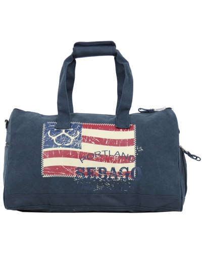 Sebago Duffle Flag Bag Small Outwashed Navy