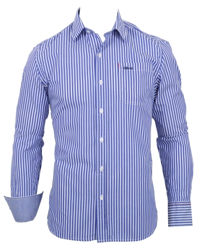 Sebago Ethan Stripe CA Shirt Blue/White