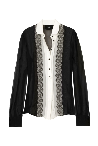 Silk Scallop Lace Blouse by D&G Dolce & Gabbana