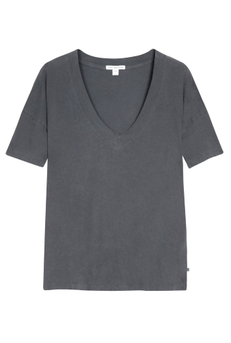 Slate Drop Shoulder Short Sleeve Tee by James Perse