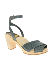 Swedish Hasbeens Strappy heeled clog sandal