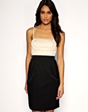 Vero Moda Very Quilted Two Tone Bandeau Dress