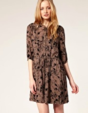 Whistles Gaby Print Shirt Dress