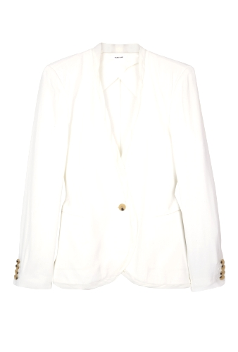 White Relic Single Button Jacket by Helmut Lang
