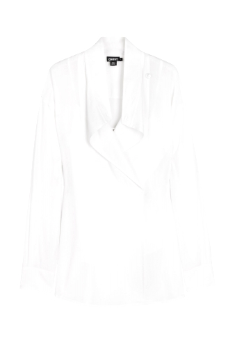 White Shirt Tail Blouse by DKNY